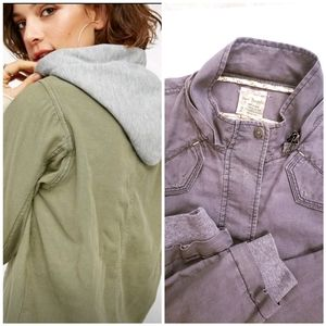 Free People Cargo Detachable Hoodie Zip Jacket 2